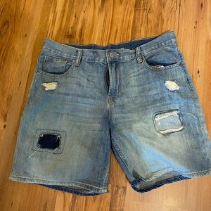 Old navy boyfriend denim shorts size 8